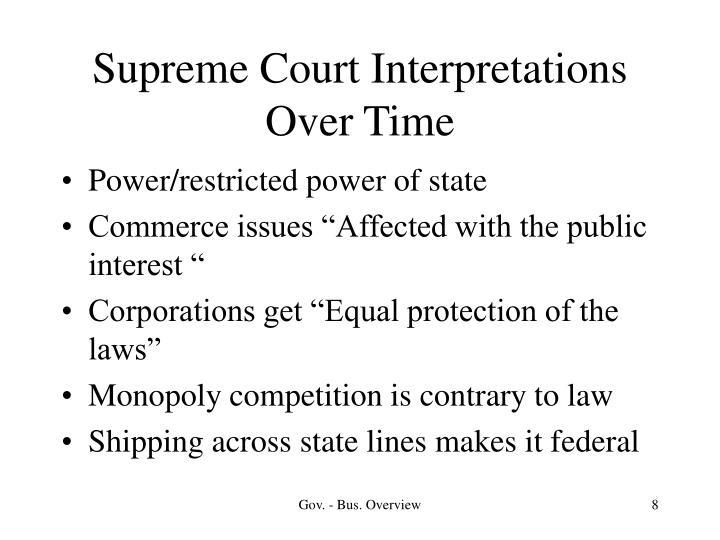 Supreme Court Interpretations Over Time