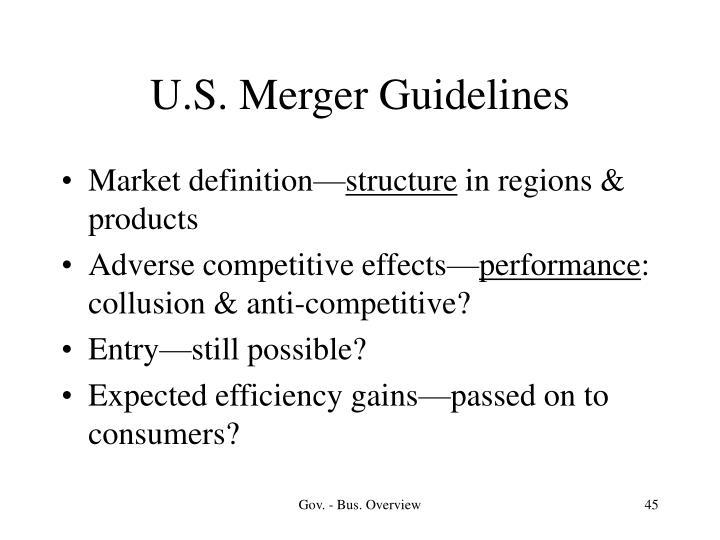 U.S. Merger Guidelines