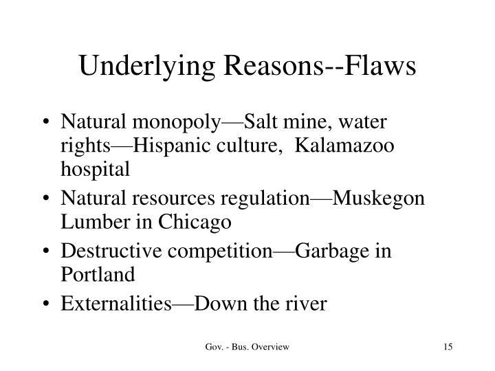 Underlying Reasons--Flaws
