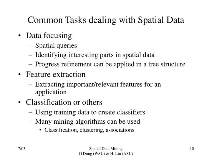 Common Tasks dealing with Spatial Data