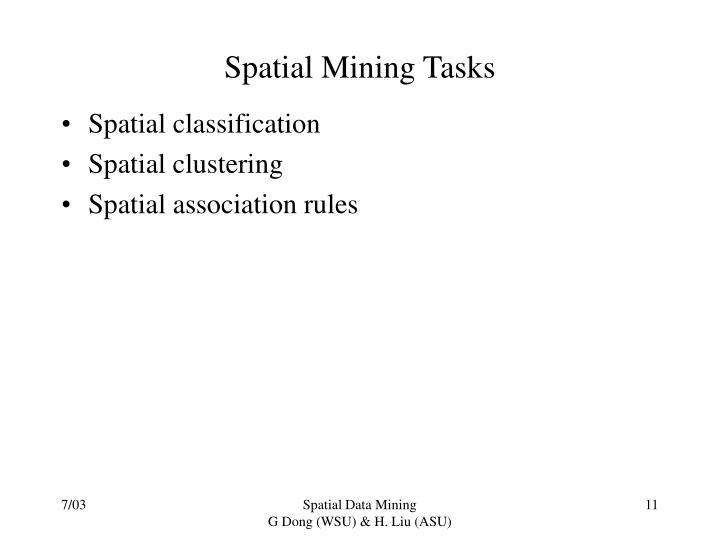 Spatial Mining Tasks