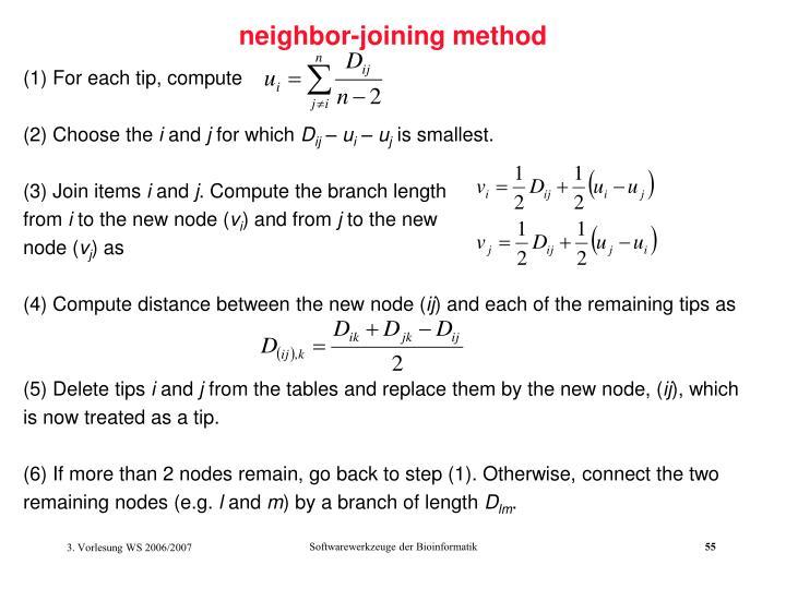 neighbor-joining method