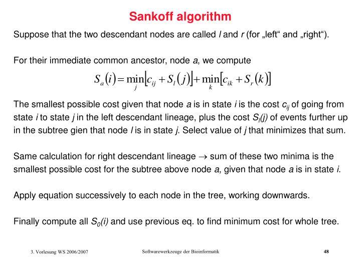 Sankoff algorithm