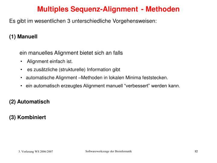 Multiples Sequenz-Alignment