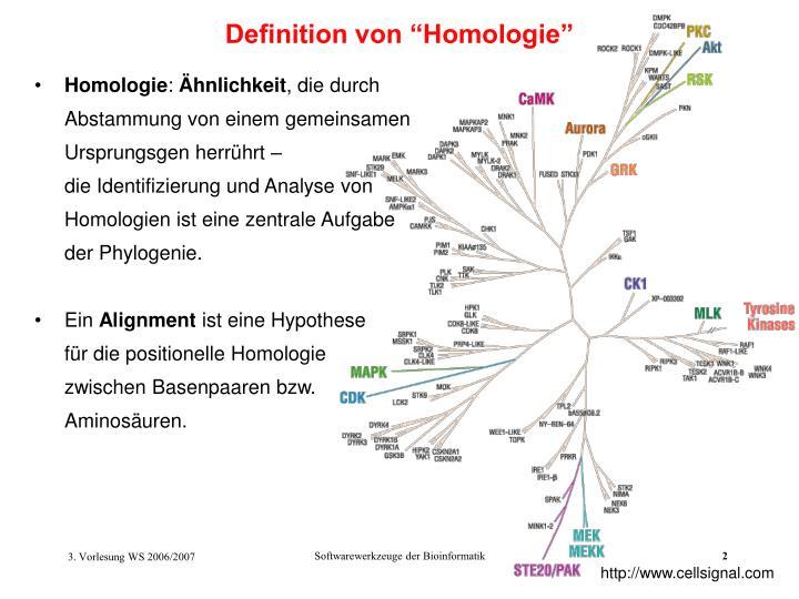 """Definition von """"Homologie"""""""