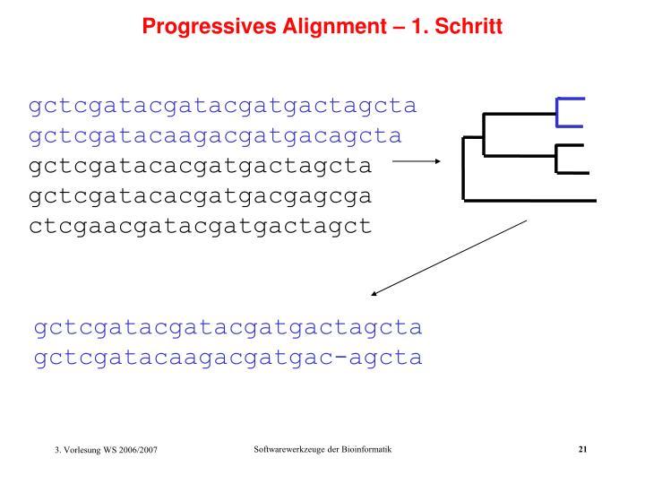 Progressives Alignment – 1. Schritt