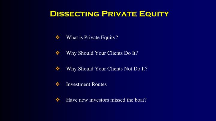 Dissecting private equity