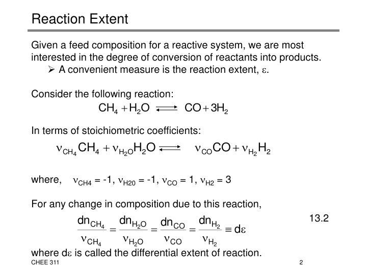 Reaction Extent