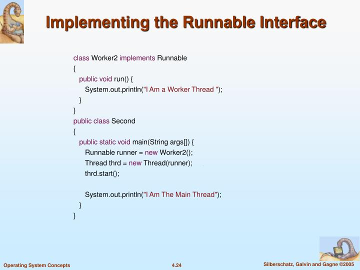 Implementing the Runnable Interface