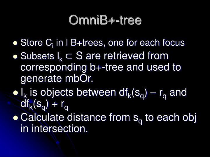 OmniB+-tree
