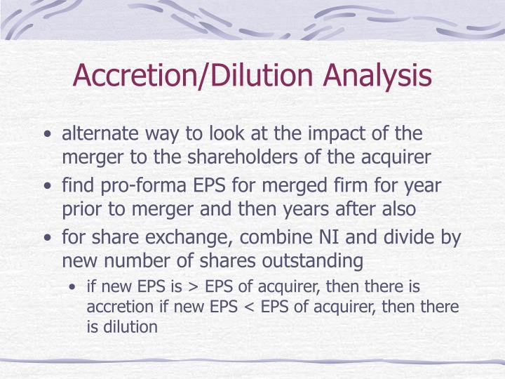 Accretion/Dilution Analysis