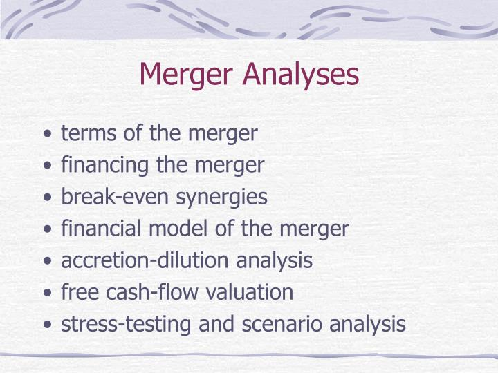 Merger Analyses