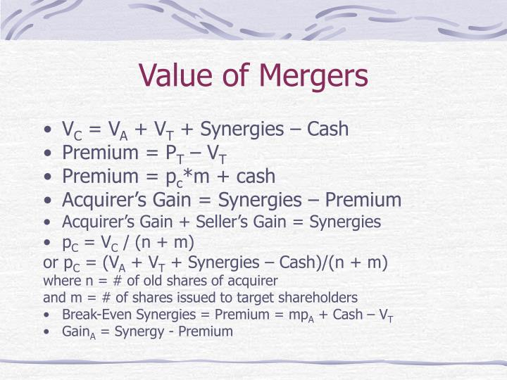 Value of Mergers