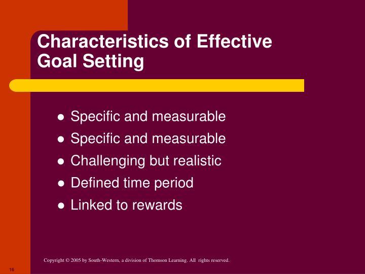 Characteristics of Effective