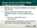 check list for your club s ability to address future trends3