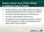 check list for your club s ability to address future trends4