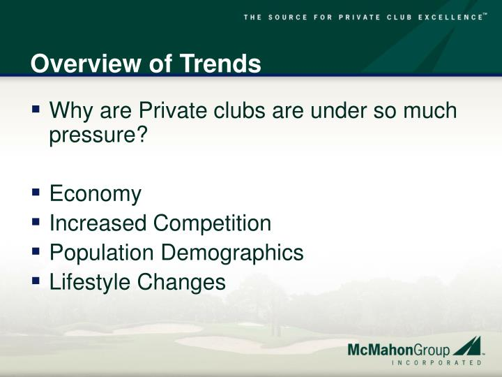 Overview of Trends