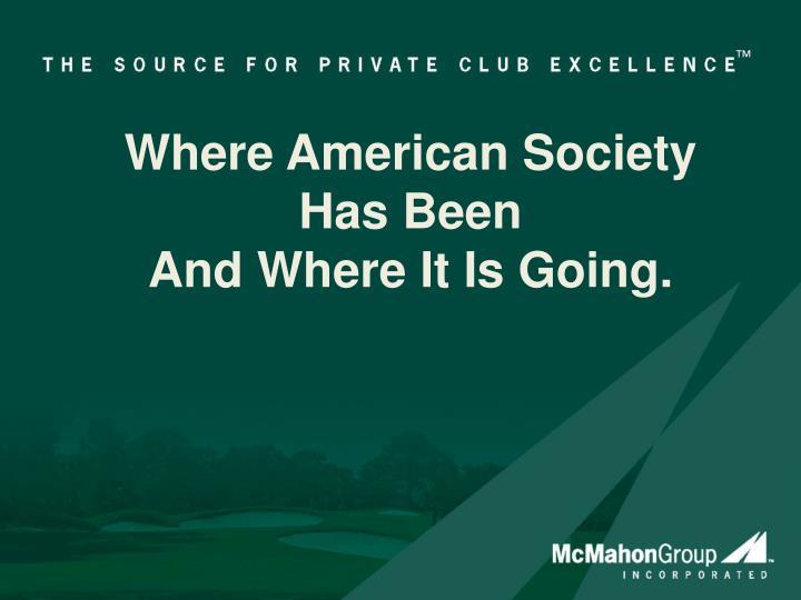 Where American Society