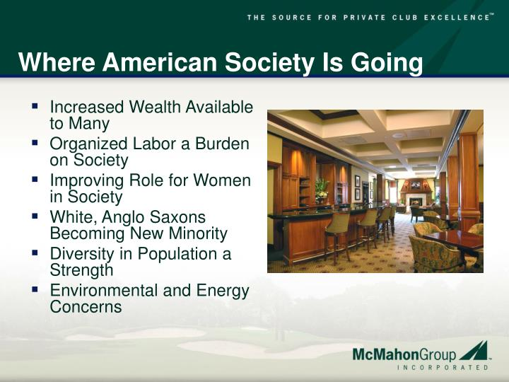 Where American Society Is Going