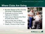 where clubs are going