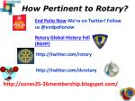 how pertinent to rotary