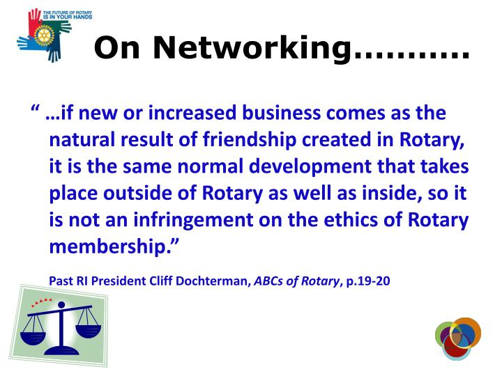 On Networking………..