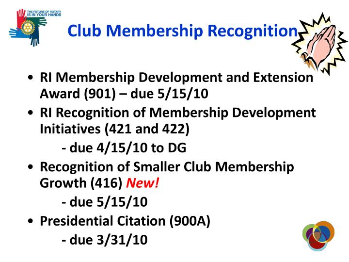 Club Membership Recognition