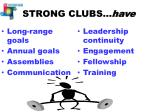 strong clubs have