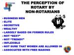 the perception of rotary by non rotarians