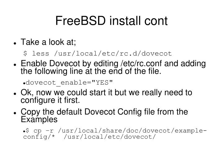 FreeBSD install cont