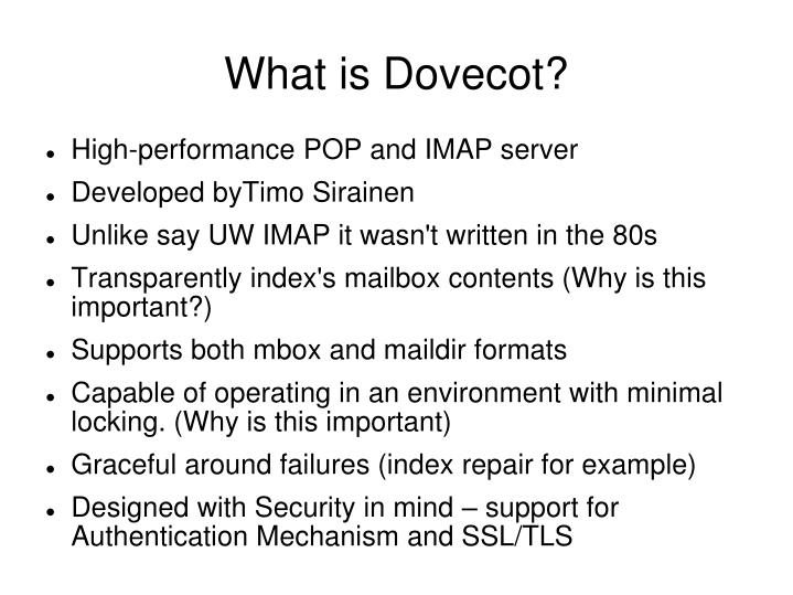 What is Dovecot?