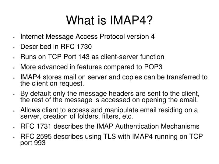 What is imap4