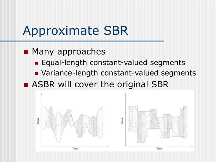 Approximate SBR