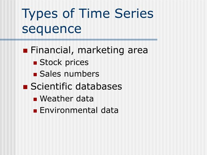 Types of Time Series sequence