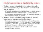 hls geographical scalability issues