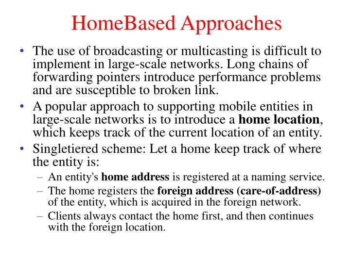 HomeBased Approaches