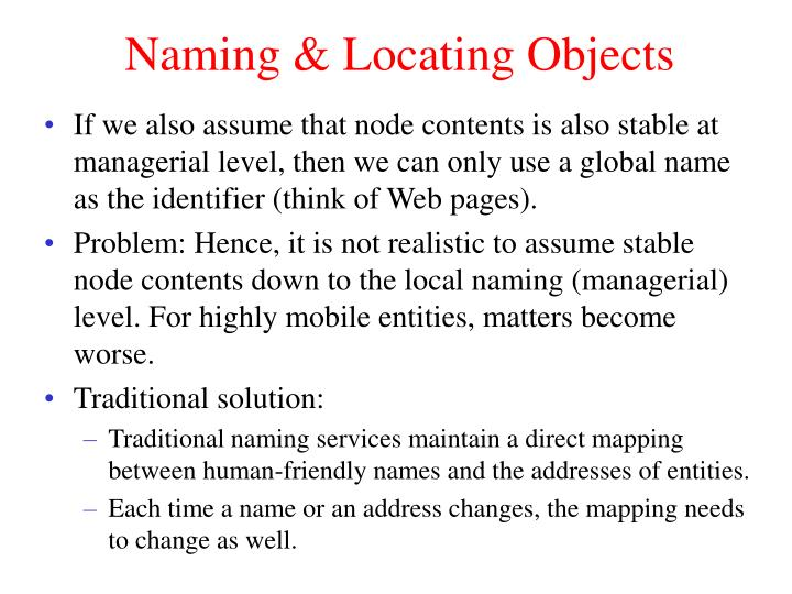 Naming & Locating Objects