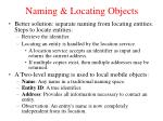naming locating objects1