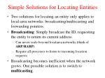 simple solutions for locating entities