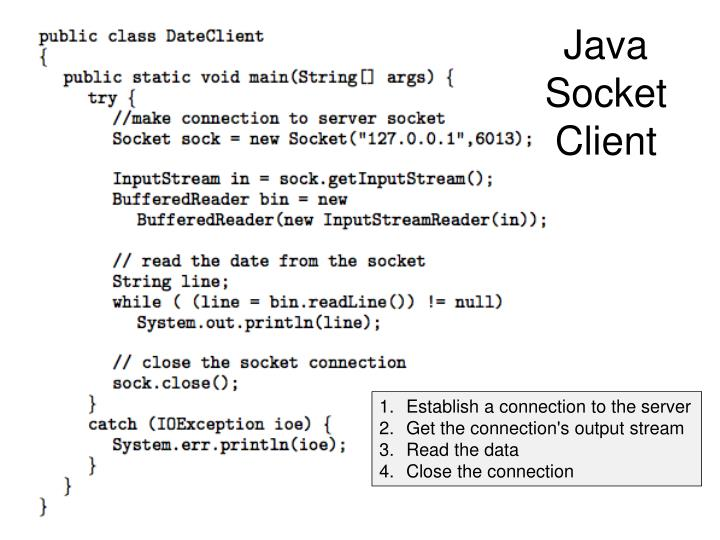 Java Socket Client