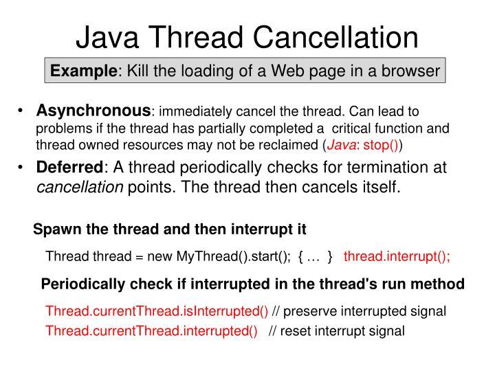 Java Thread Cancellation