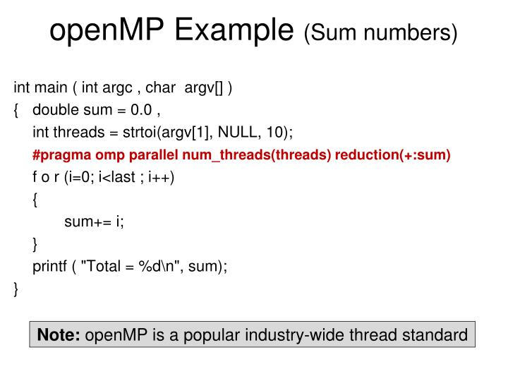 openMP Example