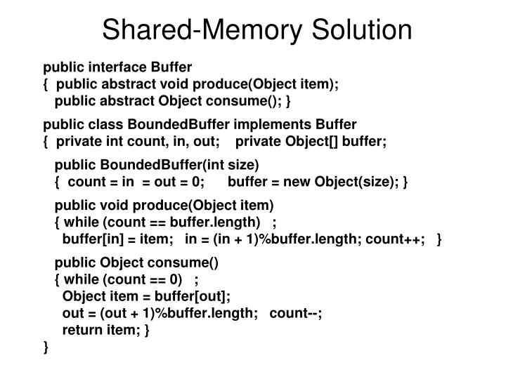 Shared-Memory Solution