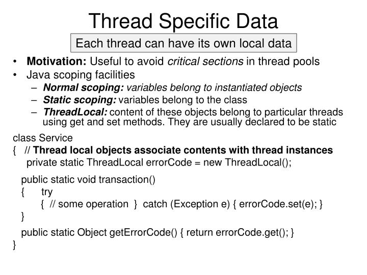 Thread Specific Data