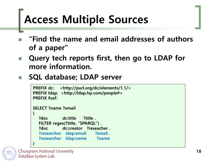 Access Multiple Sources