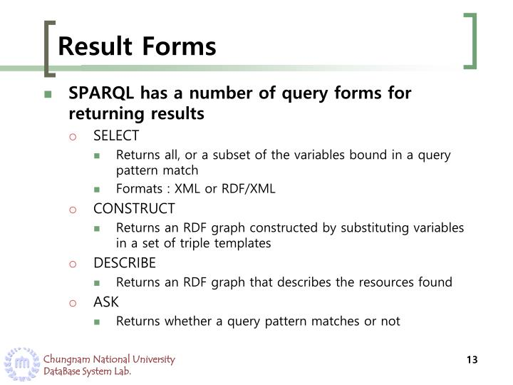 Result Forms