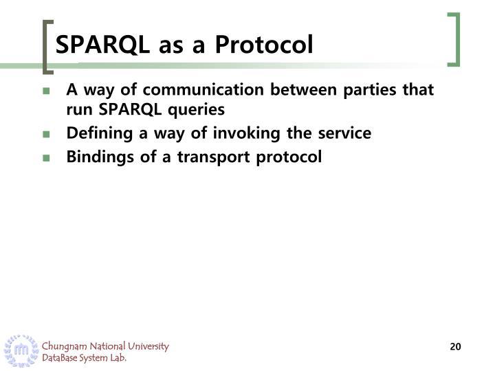SPARQL as a Protocol