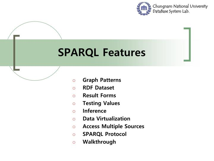 SPARQL Features