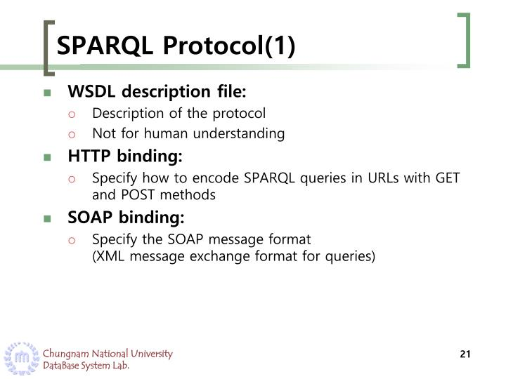 SPARQL Protocol(1)