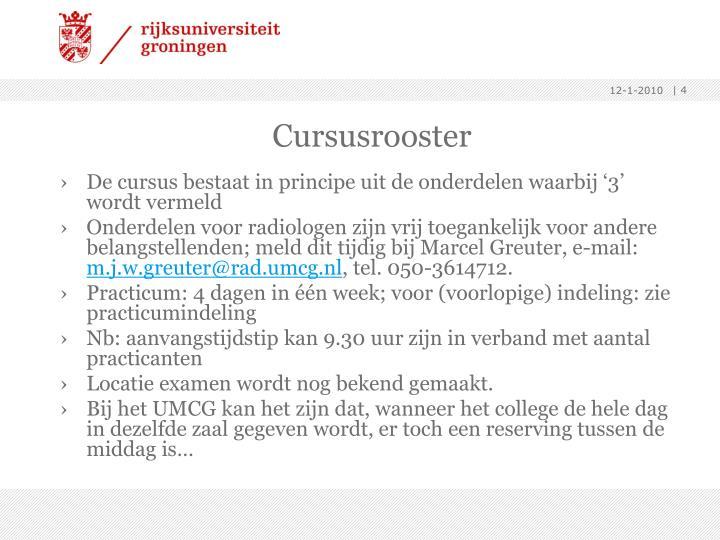 Cursusrooster
